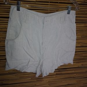 Banana Republic Creme Linen Shorts Size 8